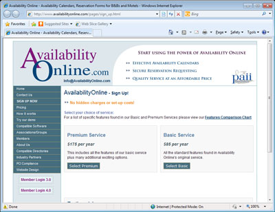 Availability Online Website